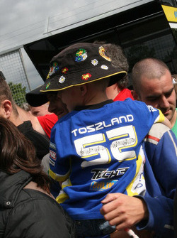 A young fan of James Toseland