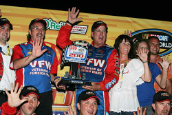 Victory lane: race winner Ron Hornaday celebrates with his team