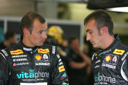 Stéphane Sarrazin, Vitaphone Racing Team Maserati MC12 and Andrea Bertolini, Vitaphone Racing Team Maserati MC12