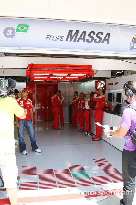 Garagem vazia de Felipe Massa, Scuderia Ferrari