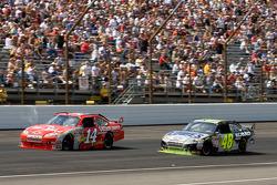 Tony Stewart, Stewart-Haas Racing Chevrolet leads Jimmie Johnson, Hendrick Motorsports Chevrolet