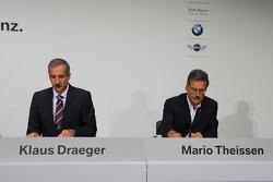 Dr. Klaus Draeger (head, development), Dr. Mario Theissen (BMW Sauber F1 Team, BMW Motorsport Direktör)