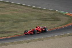 Michael Schumacher, Scuderia Ferrari, tests the F2007 in preparation for his comeback