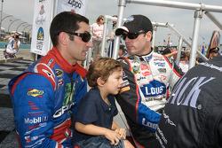 Max Papis, Germain Racing Toyota and Jimmie Johnson, Hendrick Motorsports Chevrolet