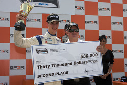 Podium: second place John Edwards, Newman Wachs Racing