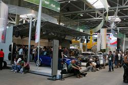 Audi fan shop in the fan zone boulevard, part of the new Ring Werk