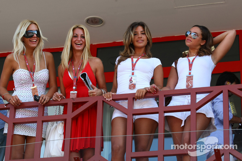 Girls in the paddock club at European GP