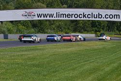 #00 Ryan Truex - NAPA Auto Parts Toyota Leads Into Turn One