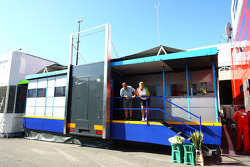 Force India Motorhome for the Belgian Grand Prix
