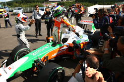 Giancarlo Fisichella, Force India F1 Team, VJM-02, Pole Position