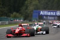 Kimi Raikkonen, Scuderia Ferrari, Giancarlo Fisichella, Force India F1 Team