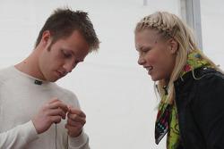 Henri Karjalainen talks with a friend