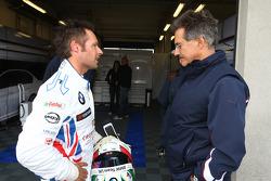 Andy Priaulx, BMW Team UK, BMW 320si and Dr. Mario Theissen, BMW Sauber F1 Team, BMW Motorsport Director