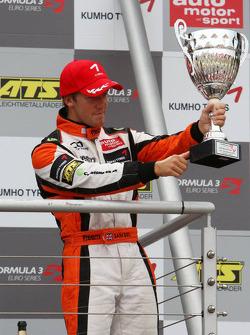 Podium, Sam Bird, Mücke Motorsport, Dallara F308 Mercedes