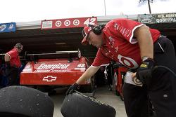 Earnhardt Ganassi Racing Chevrolet crew member at work
