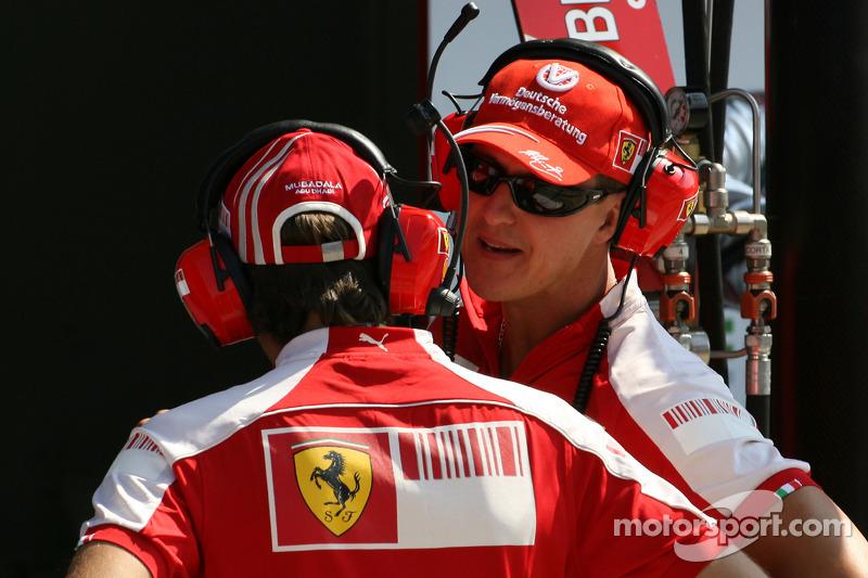Luca Badoer, Test Pilotu, Scuderia Ferrari ve Michael Schumacher, Test Pilotu, Scuderia Ferrari