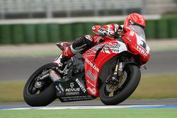 Michael Schumacher, Test Driver, Scuderia Ferrari, tests a superbike