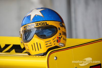 Johnny Rutherford drives the 1980 Indy-winning Chaparral