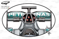 تفاصيل فتحة تهوية محرك سيارة مرسيدس
