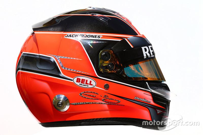 Il casco di Esteban Ocon, Renault Sport F1 Team Test Driver