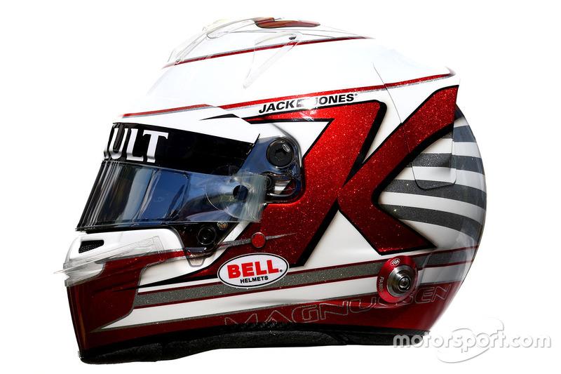 El casco de Kevin Magnussen, Renault Sport F1 Team