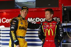 Matt Kenseth, Joe Gibbs Racing, Toyota; Jamie McMurray, Chip Ganassi Racing, Chevrolet