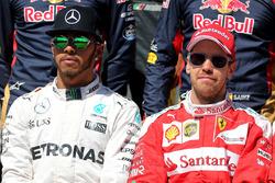 Lewis Hamilton, Mercedes AMG F1 Team and Sebastian Vettel, Ferrari