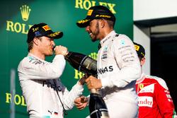 Podium: Sieger Nico Rosberg, Mercedes AMG F1 Team; 2. Lewis Hamilton, Mercedes AMG F1 Team