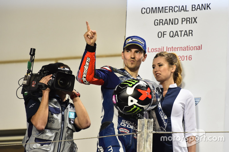 Podium: Ganador de la carrera, Jorge Lorenzo, Movistar Yamaha MotoGP, Yamaha