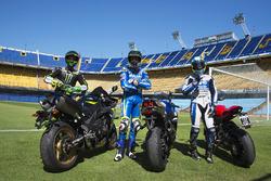 Pol Espargaro, Monster Yamaha Tech 3; Aleix Espargaro, Team Suzuki MotoGP; Yonny Hernandez, Aspar Racing Team