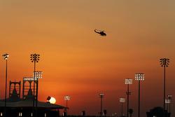 Sonnenuntergang über dem Bahrain International Circuit