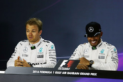 Press conference: Lewis Hamilton, Mercedes AMG F1 Team and Nico Rosberg, Mercedes AMG F1 Team