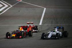 Kimi Räikkönen, Ferrari SF16-H; Daniel Ricciardo, Red Bull Racing RB12 und Felipe Massa, Williams FW38
