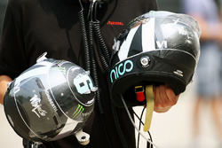 Helmets of Nico Rosberg, Mercedes AMG F1 Team