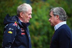 El Dr. Helmut Marko, Red Bull Consultor Motorsport con Carlos Sainz