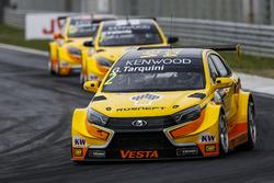 MAC3 Qualifying, Gabriele Tarquini, LADA Sport Rosneft, Lada Vesta; Hugo Valente, LADA Sport Rosneft, Lada Vesta; Nicky Catsburg, LADA Sport Rosneft, Lada Vesta
