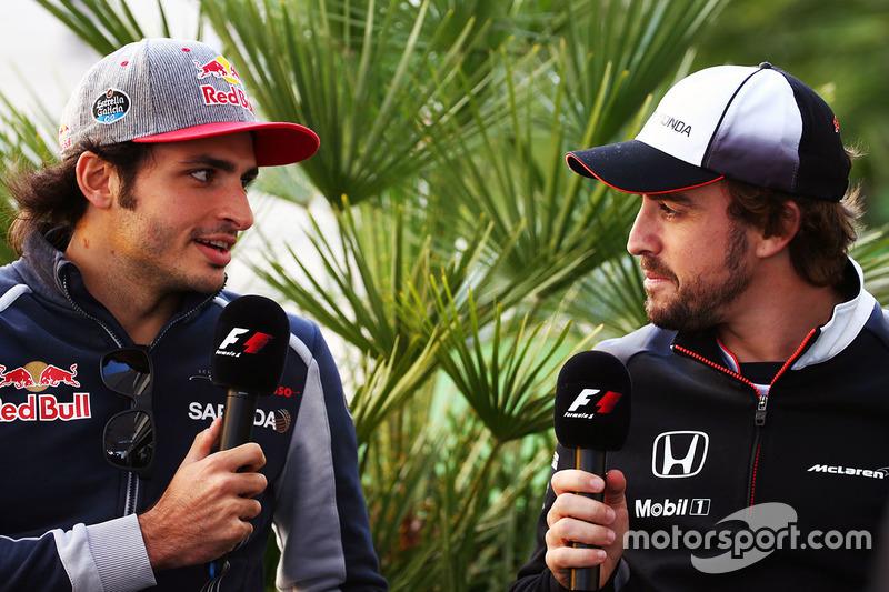 Carlos Sainz, Scuderia Toro Rosso y Fernando Alonso, McLaren