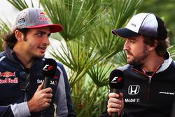 Carlos Sainz Jr., Scuderia Toro Rosso y Fernando Alonso, McLaren