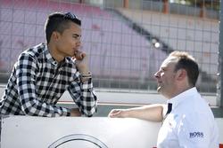 Pascal Wehrlein, Manor y Ullrich Fritz, Team Principal Mercedes-AMG HWA