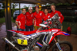 Joan Barreda, Paulo Goncalves und Michael Metge, Honda