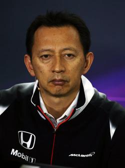 Юсуке Хасегава, глава программы Honda F1 на пресс-конференции FIA