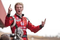 Nico Hulkenberg celebrates his victory
