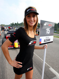 Grid girl for Mikhail Aleshin