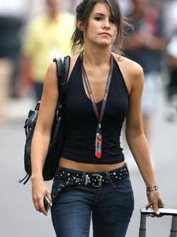 Marion Jolles, la compagne de Romain Grosjean, Renault F1 Team