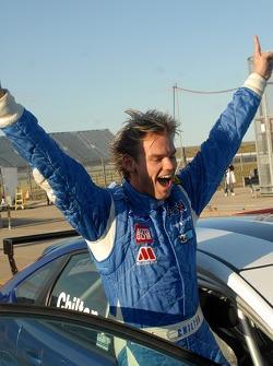 Tom Chilton celebrates