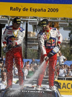 Podium: winners Sébastien Loeb and Daniel Elena