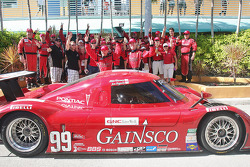 Grand Am Rolex Series 2009 DP champions Jon Fogarty and Alex Gurney celebrate with Bob Stallings Racing team members