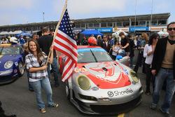 Flying Lizard Motorsports grid girl