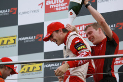 Podium: race winner and champion Jules Bianchi, ART Grand Prix Dallara F308 Mercedes