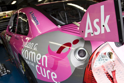 The No. 96 Ask.com Ford is showcasing a special paint scheme in honor of the Susan G Komen for the Cure